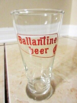 VINTAGE BALLANTINE BEER A.C.L. LABEL GLASS 1960s - 5 1/2""