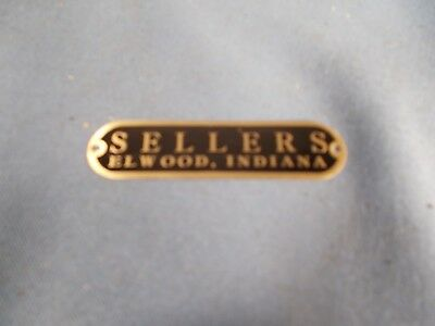 Brass SELLERS Hoosier style Cabinet Name plate Cabinet label badge