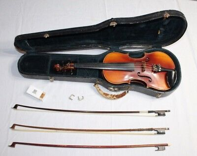 VTG Violin 3/4 Copy of Antonius Stradivarius w/ Case and Bow