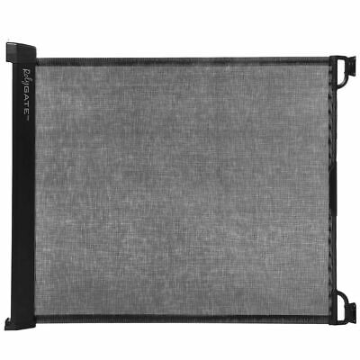 A3 Baby & Kids Retractable Safety Gate Rolygate Matte Black Pet Barrier 64631