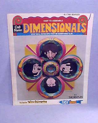 VERY RARE Craft Master D-1 THE BEATLES DIMENSIONALS YELLOW SUBMARINE NOS FS 1968