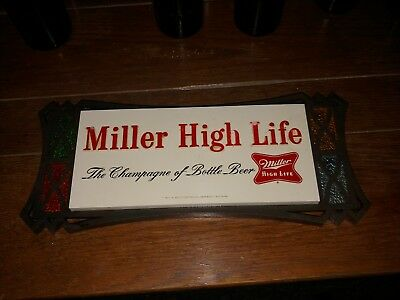 "Original 1970's-vintage (Plastic) ""MILLER HIGH LIFE ~ Beer"" Wall Decor SIGN!"