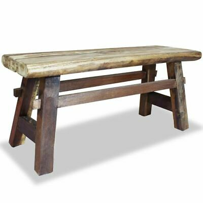 vidaXL Solid Reclaimed Wood Bench 100x28x43cm Home Furniture Seat Chair Stool