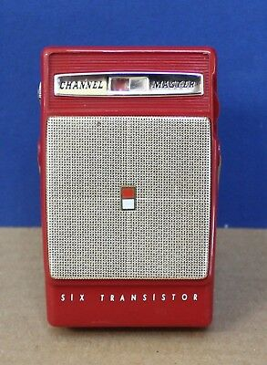 Channel Master 6531 6 Transistor Radio Red 1960s Japan Very Nice!