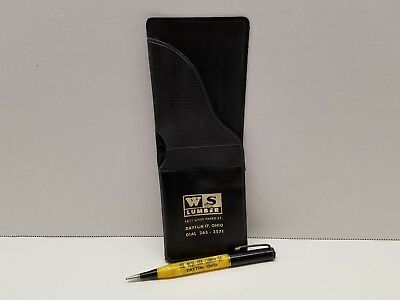 VTG West Side Lumber Co Pocket Protector With Mechanical Pencil Advertiser Ohio