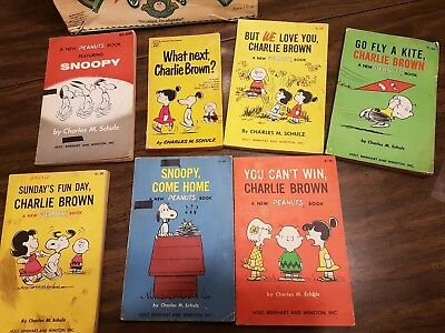 Lot of 7 Charles M. Schulz Peanuts, Charlie Brown, Snoopy Books
