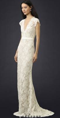 """Reem Acra """"Im Married"""" Lace Gown"""