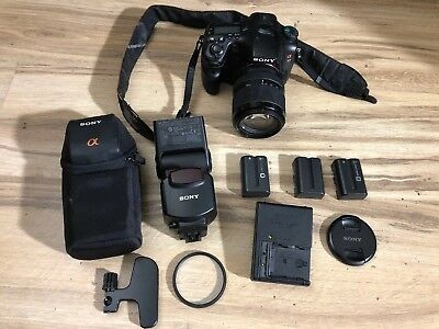 Sony Alpha a77 SLT-A77V 24.3MP Digital SLR Camera With Lens and Extras !!!!