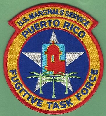 United States Marshal Puerto Rico Fugitive Task Force Police Patch
