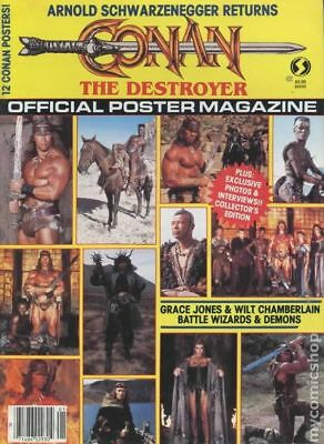 Conan The Destoyer Official Poster Magazine #1 1984 VG Stock Image Low Grade