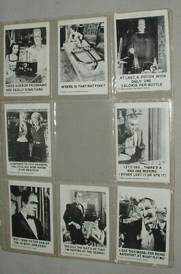 1964 The Munsters Lot Of 8 Gum Trading Cards Excellent Condition