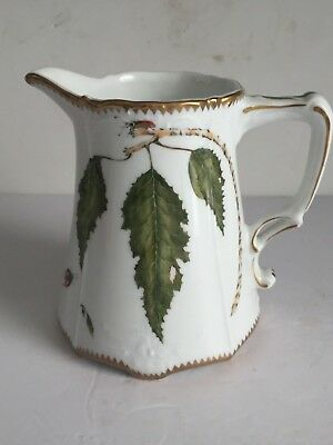 Vintage ANNA WEATHERLEY Porcelain MILk Jug Pitcher Butterfly Insects Leaves