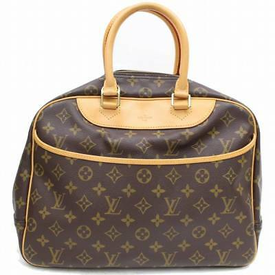 57315d87ef4 Authentique Louis Vuitton Sac à Main Deauville M47270 Marron Monogramme  313586