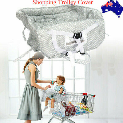 Baby Shopping Trolley Cart Seat Mat Cushion Highchair Cover Polyester Comfort AU