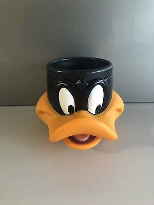 DAFFY DUCK Vintage 1992 Looney Tunes Warner Brothers Collectable Plastic Mug Cup
