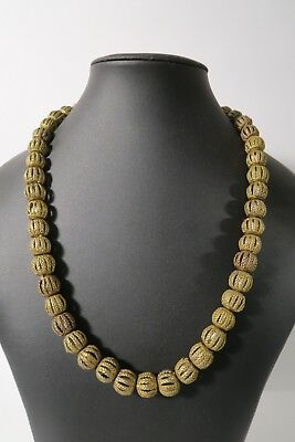 Strang Messingperlen 15mm Gelbguß TS4 Ghana Brass Beads Ashanti Akan Afrozip