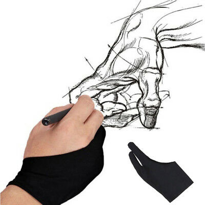 Free Size Artist Drawing Glove For Drawing Black 2 Finger Anti-fouling New HQ