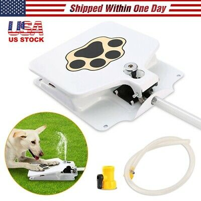 """41"""" Trouble-Free Dog Pet Drinking Doggie Activated Water Fountain Hose Outdoor *"""