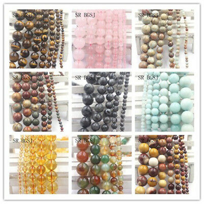 4mm 6mm 8mm 10mm 12mm Wholesale Natural Round Gemstone Loose Beads Jewelry DIY