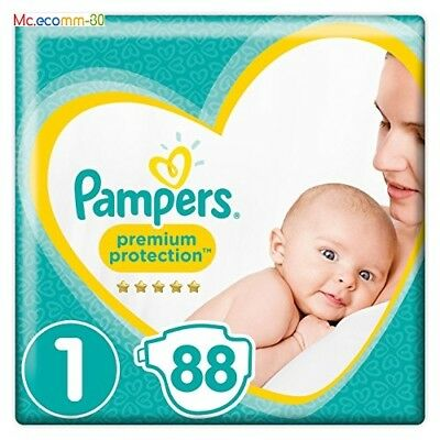 Couche Pampers - New Baby - Taille 1 (2-5 kg) – Lot de 2 x 44 (88 couches)