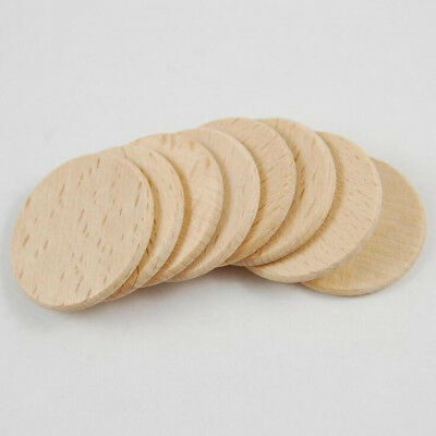 50Pcs Natural Unfinished Blank Wood Wooden Round Shapes Wedding Decor Crafts