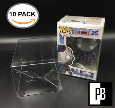 "10 Pop Boxed .40Mm 4"" Funko Pop! Premium Protectors Clear With Protective Film"