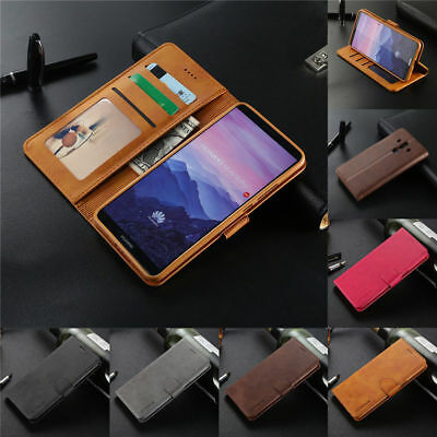 Luxury PU Leather Magnetic Flip Wallet Case Cover For Huawei Mate 20 Pro 10 Lite