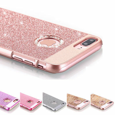 Hard Case for iPhone 7 Plus Glitter Back Phone Cover for iPhone X 6 6s 7 8 Plus