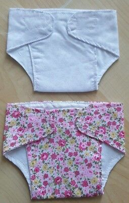 Set of 2 Pink Nappies for 14 - 17 inch Dolls My First Baby Annabell (11)