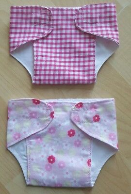 Set of 2 Pink Nappies for 14 - 17 inch Dolls My First Baby Annabell (12)