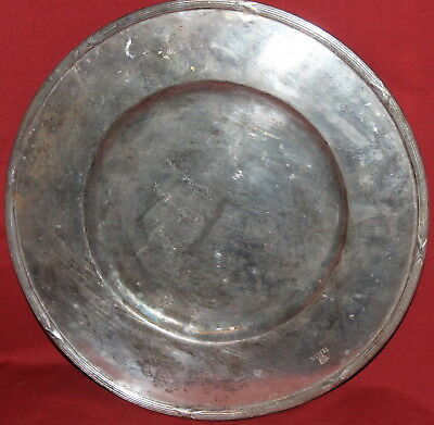 Antique Italian Silverplated Serving Platter Tray