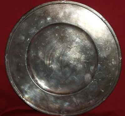 Antique Italian Silver Plated Serving Platter Tray