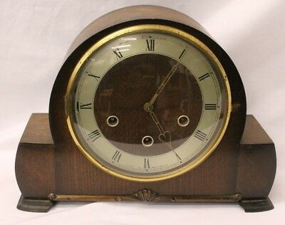 Vintage Smiths Enfield Westminster Chime Mantle Clock Spares or Repairs (856A1)