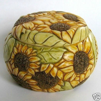 MPS Harmony Kingdom - Jardinia - Small Sunflowers Trinket Pot - Sunkissed - NIB