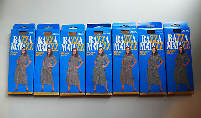 7x Vintage RAZZAMATAZZ Bigger Girls Pantyhose Super Talls Navy Brown Panty Hose