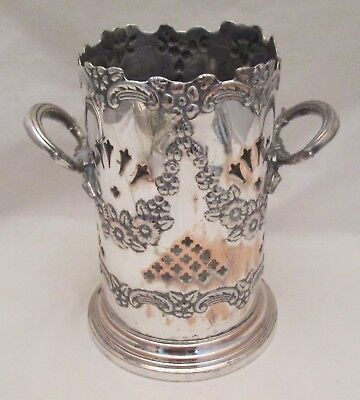 A Fine 19th Century Silver Plated Wine Bottle Holder / Cooler