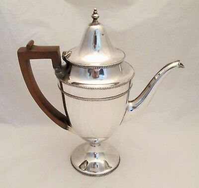 A Large Old Sheffield Plate Coffee Pot c1820 Statuesque Shape