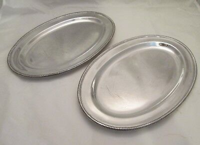 A Fine Pair of 19th Century Silver Plated Meat Plates / Platters