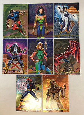 MARVEL MASTERPIECES SERIES 2 (1993) Complete X-MEN SPECTRA ETCH Chase Card Set