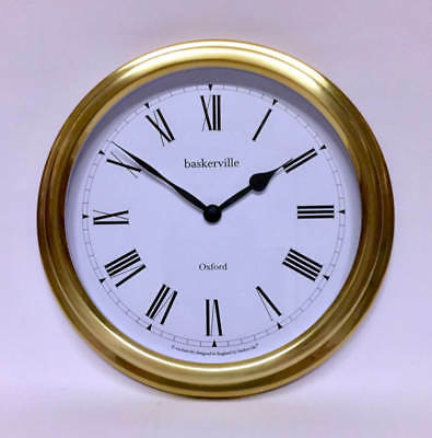 Baskerville Clock Portsmouth Style in Brass Lacquer
