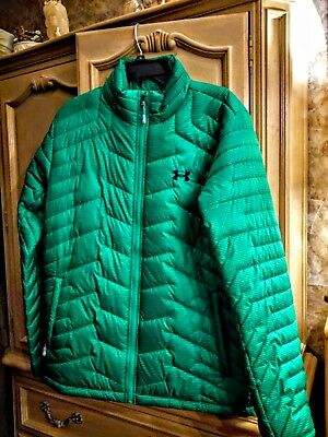 New Under Armour Mens ColdGear Reactor Poly Filled Fitted Jacket Large