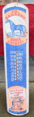 """Dr Barker's Horse Liniment Thermometer """"Also Good for Mules and Jackasses"""" -USED"""