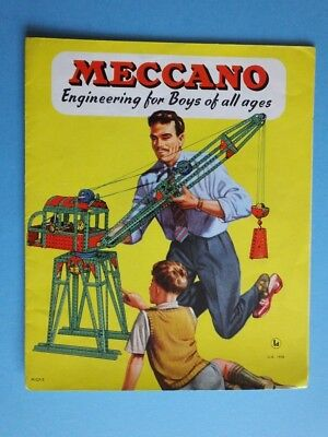 grosser  Meccano  Metall Baukasten UK Prospekt 1958 in GB