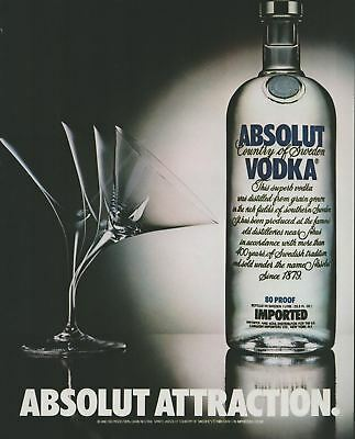 1984 Vintage Print Ad Absolut Vodka Country of Sweden 80 Proof Imported