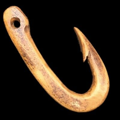 VERY RARE ANCIENT ROMAN PERIOD FISH HOOK PENDANT 2nd-3rd Cent AD (1)