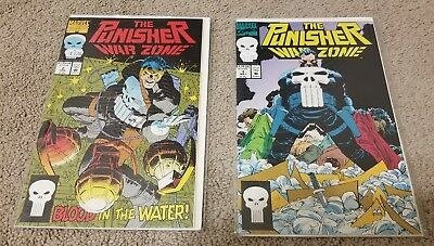 Marvel Punisher War Zone #2 And #3 Excellent Condition!