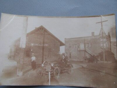 Antique Photo Scene At Old Train Station  In Little Arcadia Wisconsin Historic