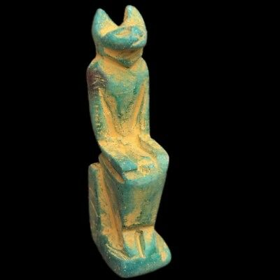 Beautiful Ancient Egyptian Blue Amulet 300 Bc (4)