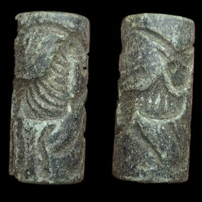 Very Rare Ancient Near Eastern Cylinder Seal 300 Bc (6)