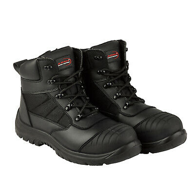 ARMA Leather Safety Steel Toe Cap Zip / Lace Work Waterproof Mens Ankle Boots